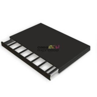 Calceiro Retrátil Modular Para Trilho Cremalheira 60CM Preto