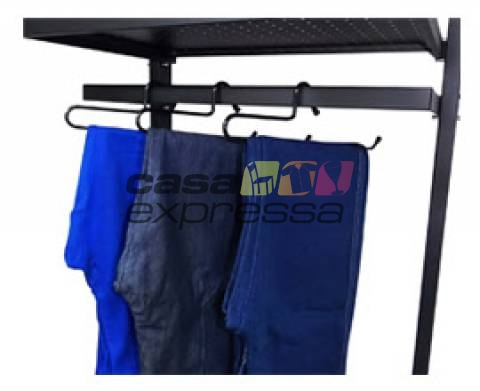Cabide Para Calça - 6 unidades - Preto - CASA EXPRESSA