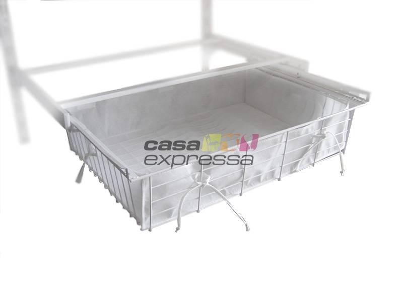 Módulo de Closet C90G - CABIDEIRO + GAVETA - CASA EXPRESSA