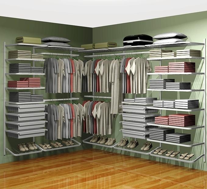 Closet aramado em l cll02 2 80m x 2 10m for Modelos de zapateras para closets