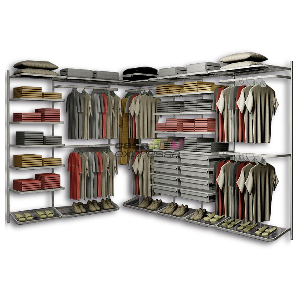 Closet Aramado em L CLL03 - 3,10m x 2,10m