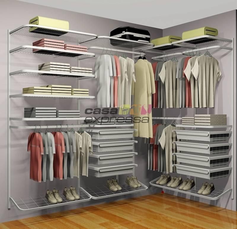 Closet Aramado em L CLL05 - 2,50m x 1,30m - CASA EXPRESSA