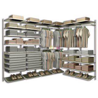 Closet Aramado em L CLL07 - 2,50m x 1,80m