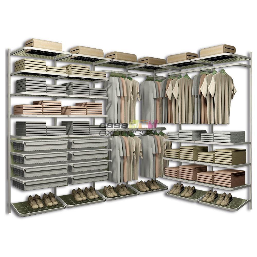 Closet Aramado em L CLL07 - 2,50m x 1,80m - CASA EXPRESSA