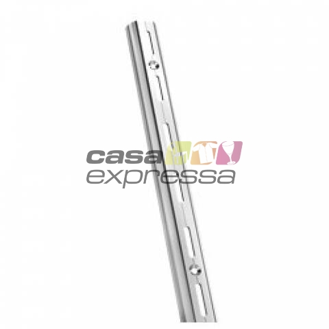 Cremalheira 30cm Simples - Cromada - CASA EXPRESSA