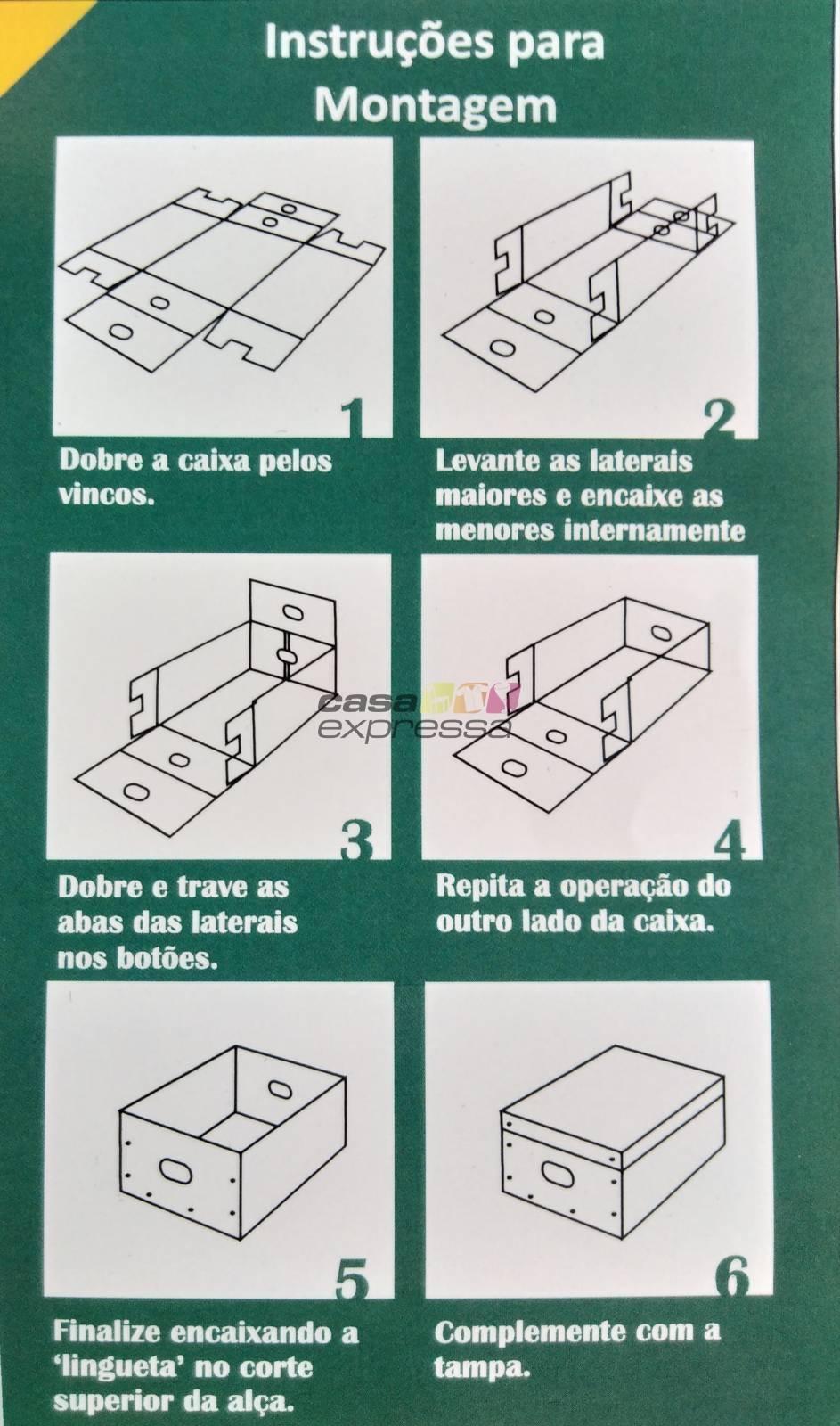 Caixa Organizadora Preta - CASA EXPRESSA