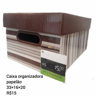 Caixa organizadora com tampa