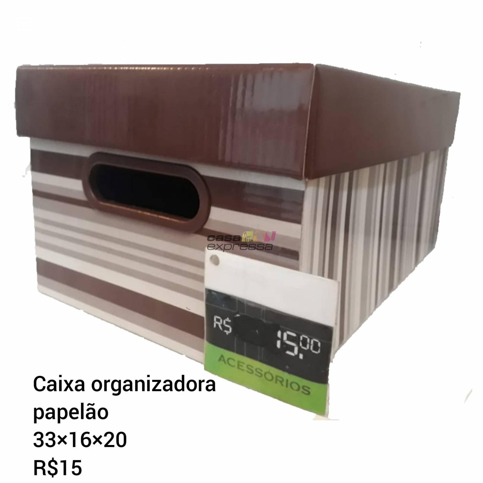 Caixa organizadora com tampa - CASA EXPRESSA