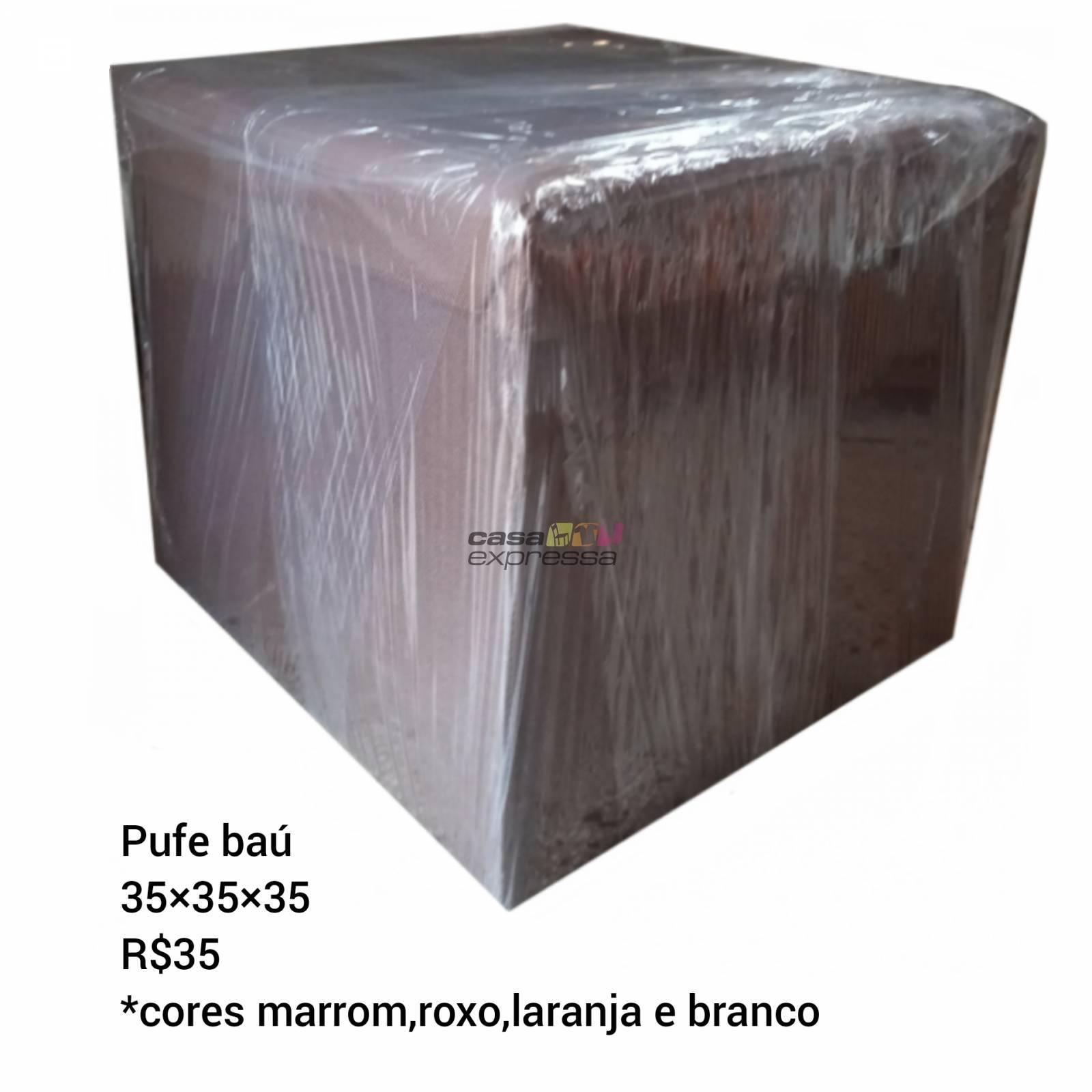 Pufe bau pink, preto ou marron - CASA EXPRESSA