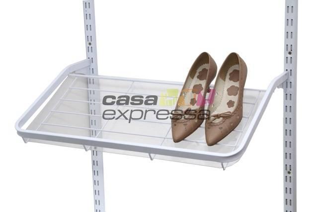 Caixa Com 4 Sapateiras 60X40CM Branco - CASA EXPRESSA