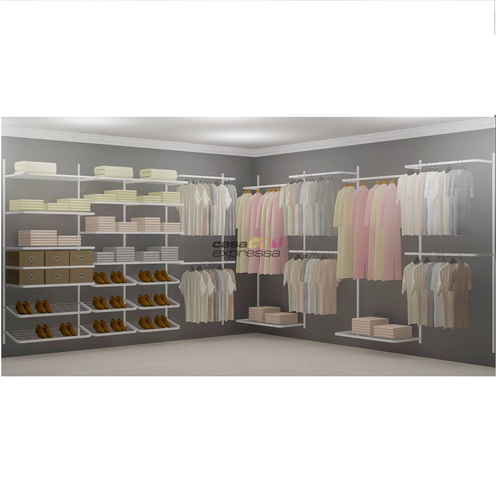 Closet Aramado em L  CLN09 - 4,00 x 4,00m - CASA EXPRESSA