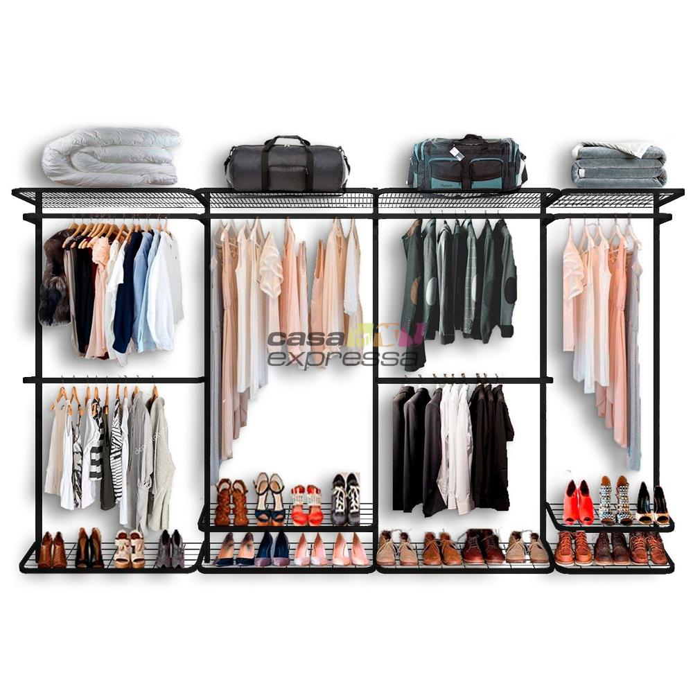 Closet Aramado - Linear CLR371 - 3,40 Smart Black - CASA EXPRESSA