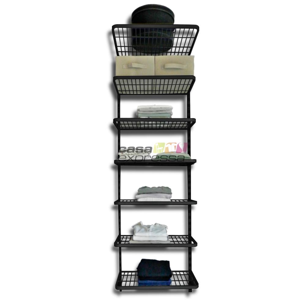 Módulo de Closet C60D Prateleiras - Smart Black - CASA EXPRESSA