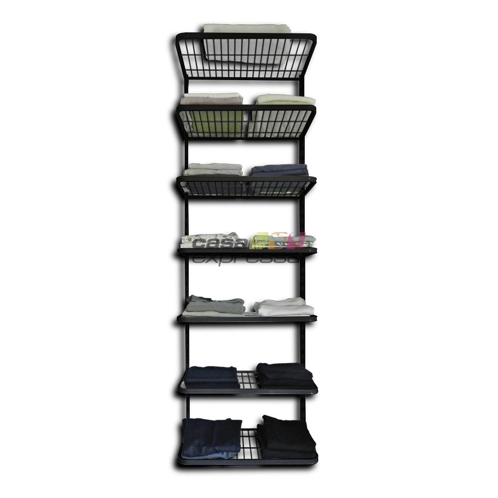 Módulo de Closet C60H Prateleiras - Smart Black - CASA EXPRESSA