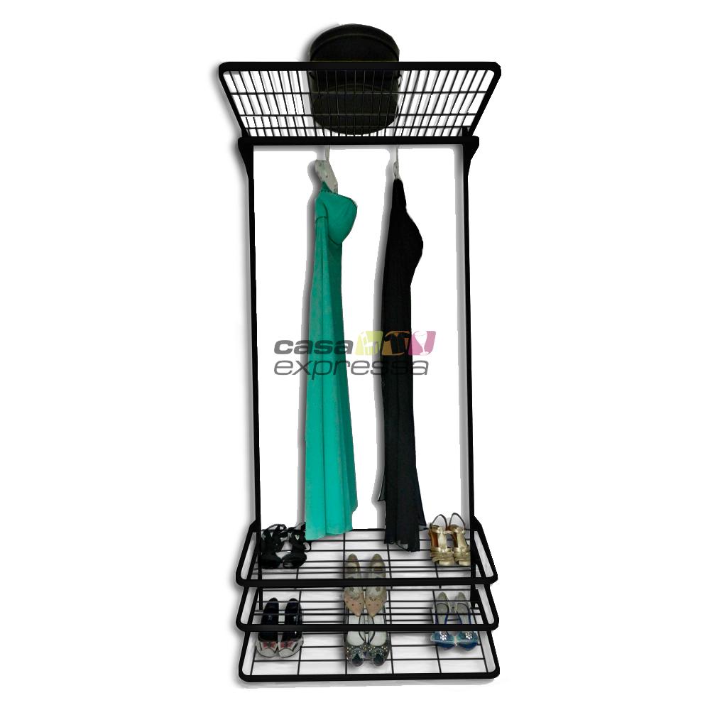 Módulo de Closet C90A Longos - Smart Black - CASA EXPRESSA