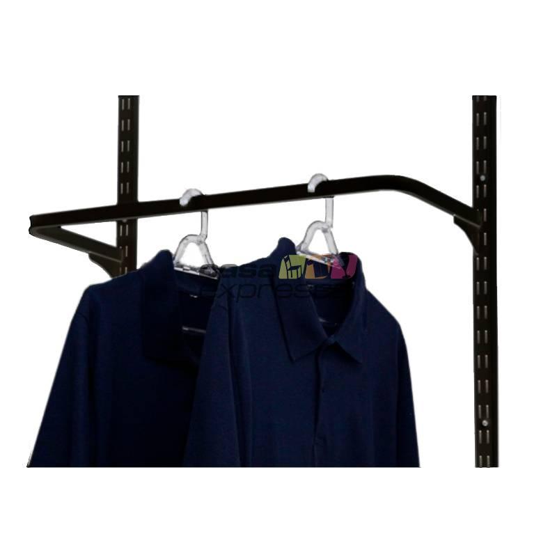 Guarda Roupa closet aramado sem portas CLR285 - 1,30m Black - CASA EXPRESSA