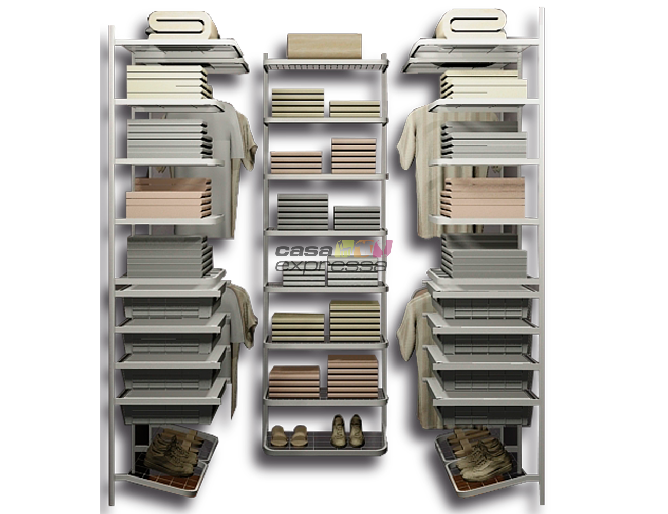 Closet Aramado em U CLU01 - 1,30m x 1,80m x 1,30m - CASA EXPRESSA