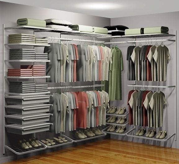 Closet Aramado em U CLU02 - 2,80m x 1,60m x 1,50m - CASA EXPRESSA
