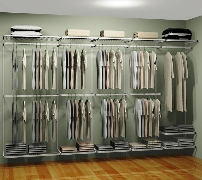 Closet Aramado em U CLU03 - 3,40m x 1,60m x 2,00m - CASA EXPRESSA