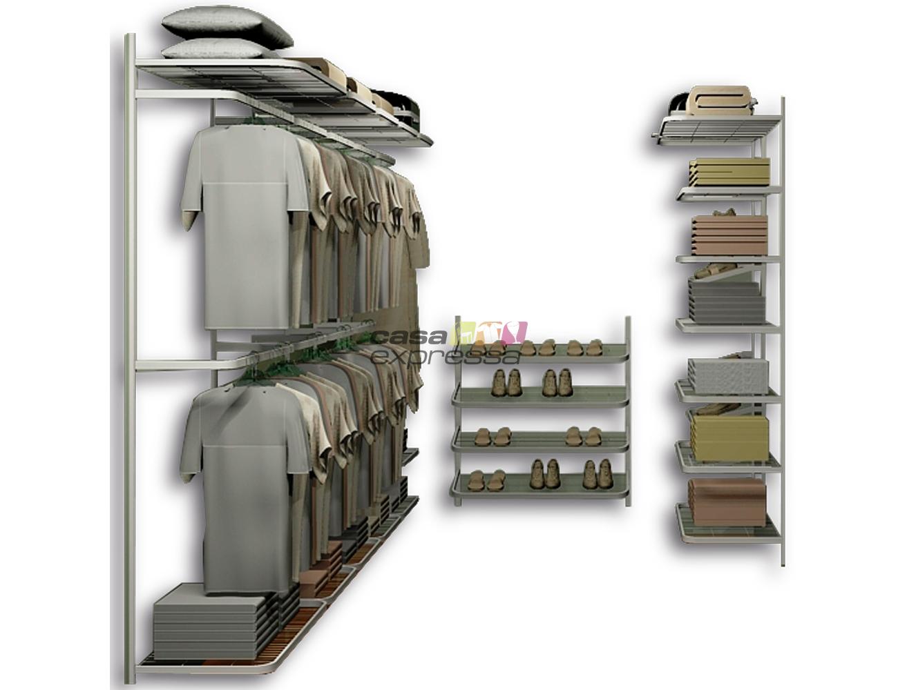 Closet Aramado em U CLU03 - 3,40m x 1,60m x 2,00m