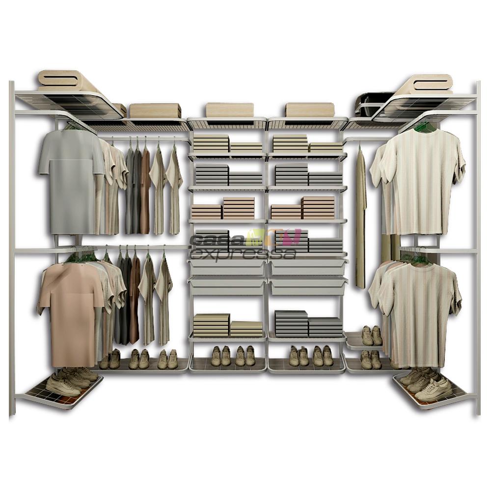 Closet Aramado em U CLU04 - 2,80m x 1,50m x 1,50m - CASA EXPRESSA