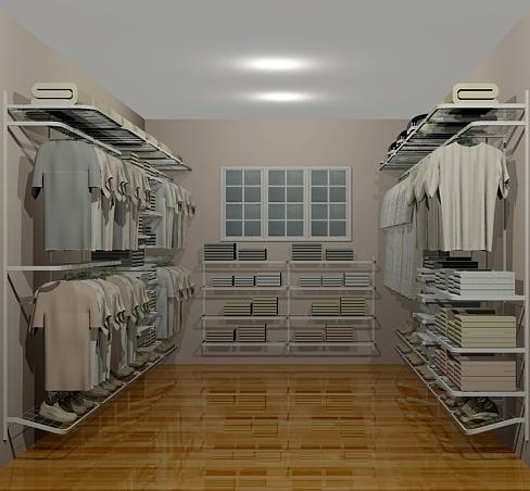 Closet Aramado em U CLU10 - 4,60m x 3,00m x 4,60m - CASA EXPRESSA