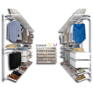 Closet Aramado em U CLU11 - 2,80m X 1,80m X 2,80m