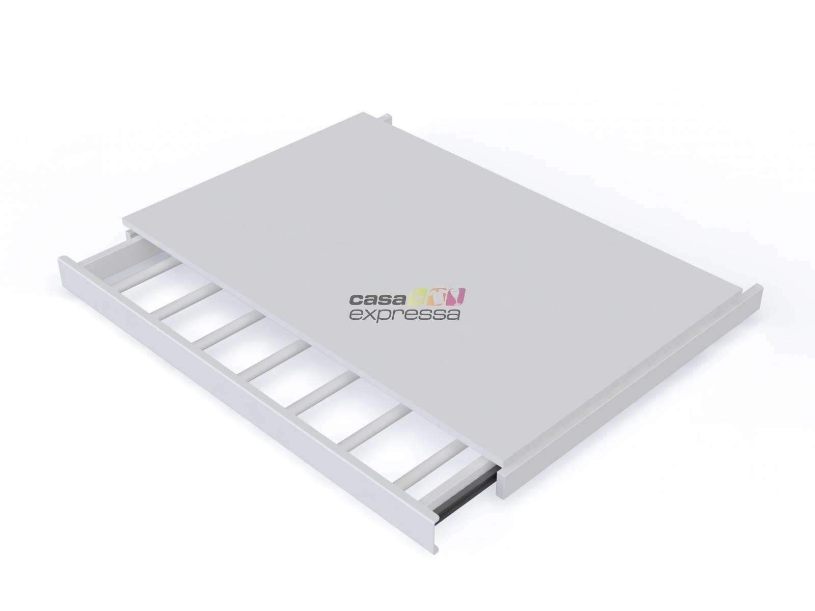 Calceiro Retrátil Modular Para Trilho Cremalheira 60CM Branc