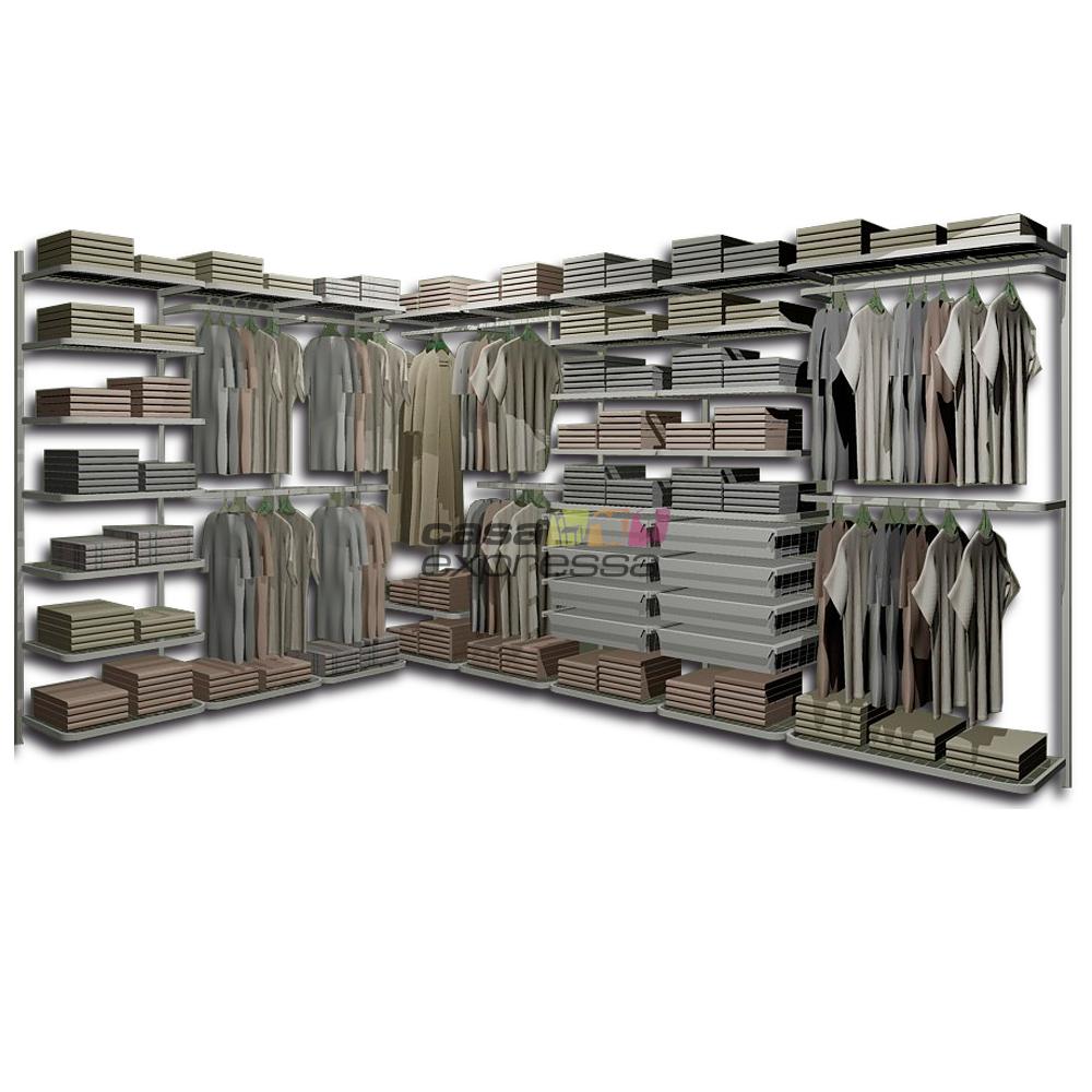 Closet Aramado em L CLL14 - 2,40m x 3,40m