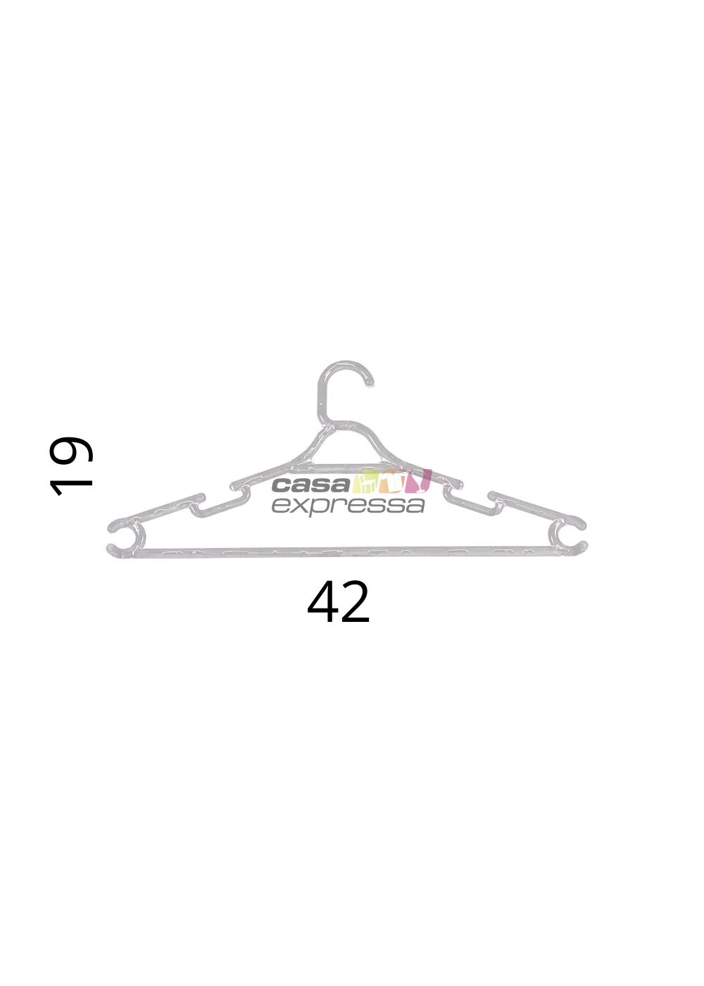 Kit de Cabide Adulto Transparente - 100 unidades - CASA EXPRESSA