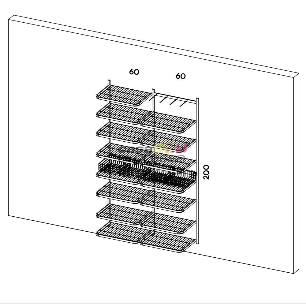 Closet Aramado - Linear CLR133 - 1,30M - CASA EXPRESSA