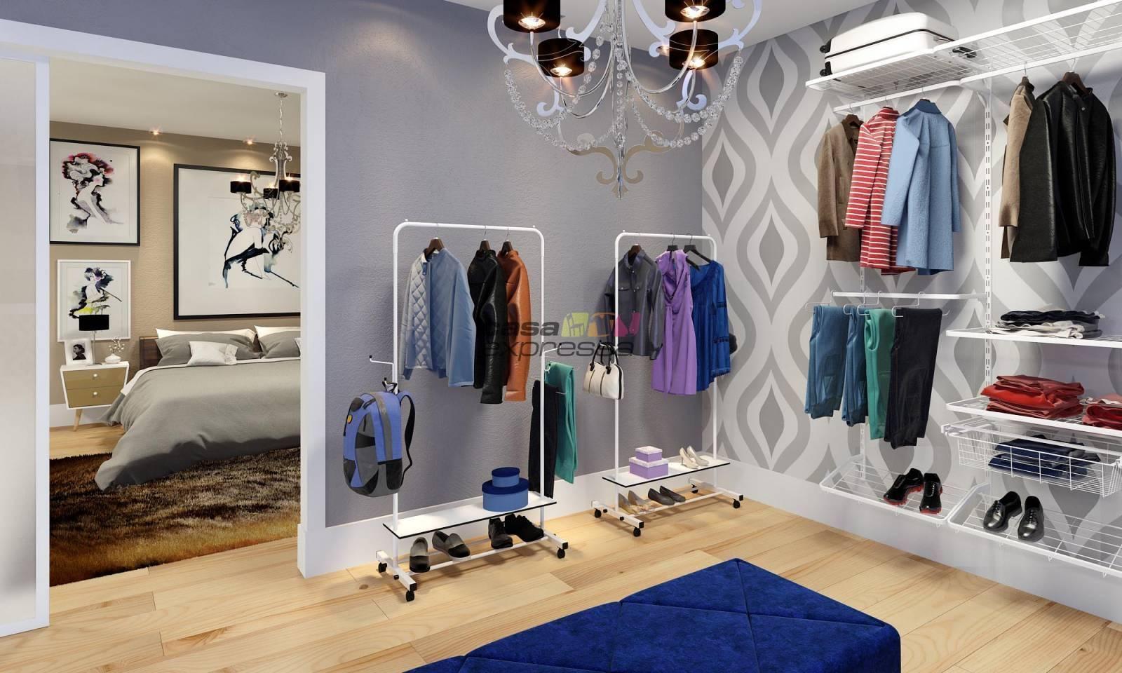 Arara para roupas - 80cm - Branca - CASA EXPRESSA