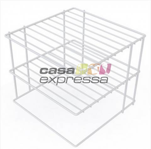 Organizador de Pratos para Canto - 2 Unidades - CASA EXPRESSA