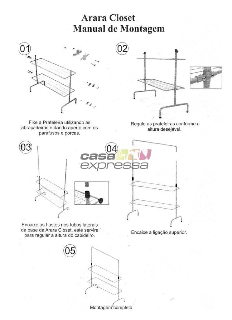 Arara Kit Closet - 120cm - CASA EXPRESSA