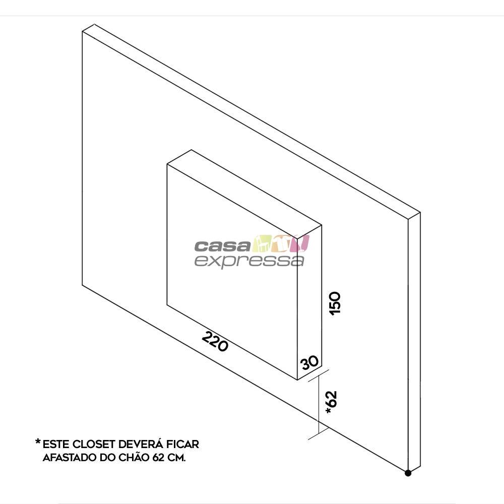 Closet Aramado - Linear CLR192 - 2,20m - CASA EXPRESSA