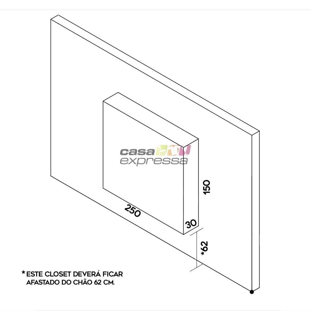 Closet Aramado - Linear CLR192 - 2,50m - CASA EXPRESSA
