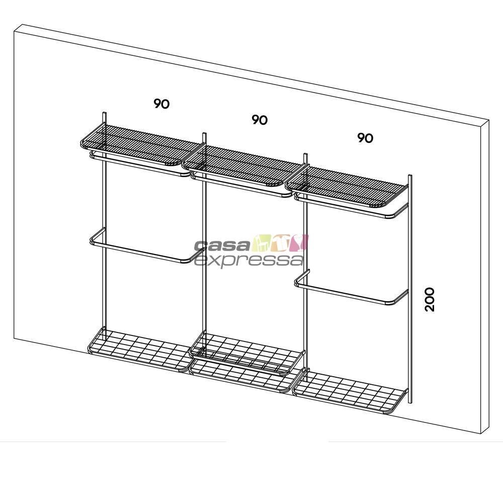 Closet Aramado - Linear CLR371 - 2,80M - CASA EXPRESSA