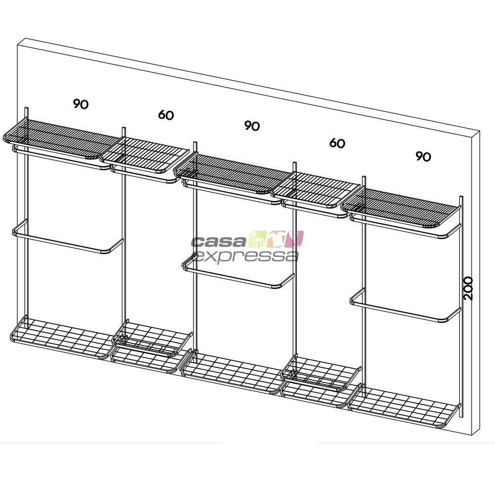Closet Aramado - Linear CLR371 - 4,00M - CASA EXPRESSA