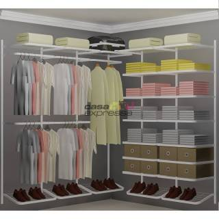 Closet Aramado em L CLB03 - 1,90 x 1,90m