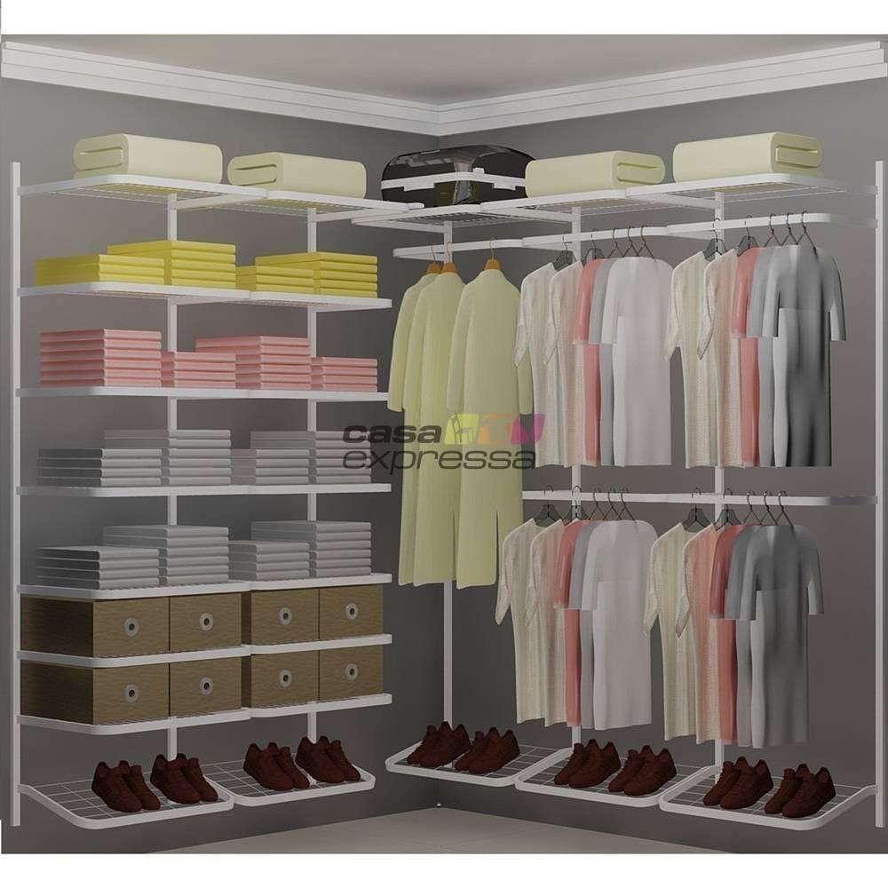 Closet Aramado em L CLB03 - 1,90 x 1,90m  - CASA EXPRESSA