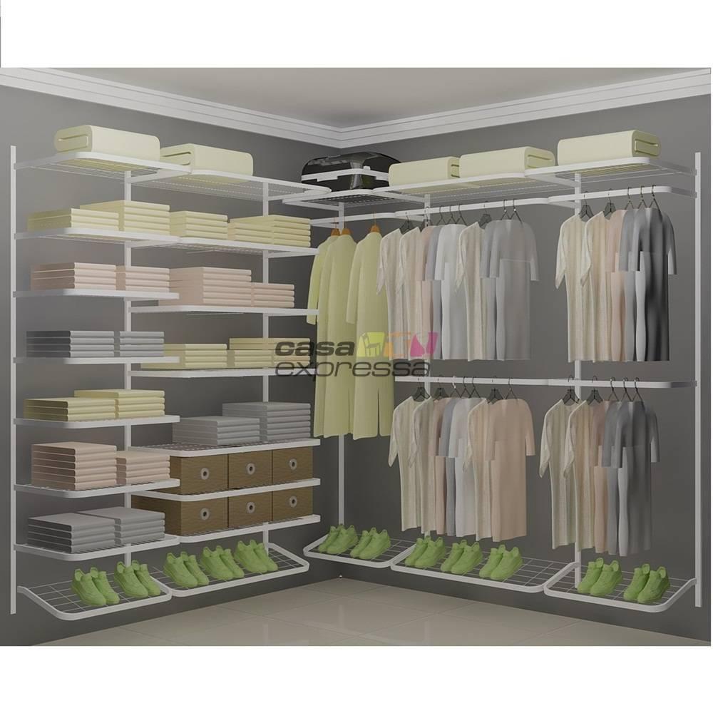 Closet Aramado em L  CLB04 - 2,20 x 2,20m - CASA EXPRESSA