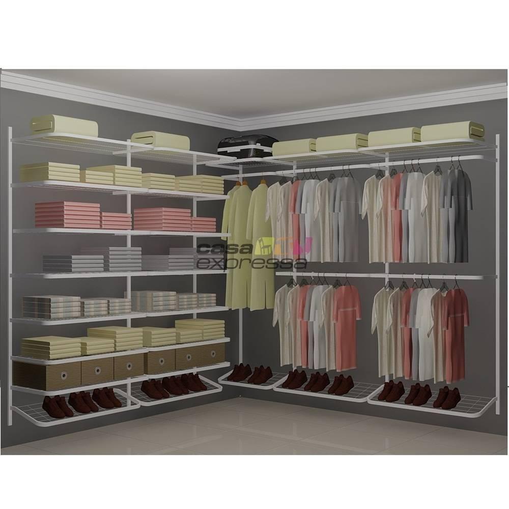 Closet Aramado em L  CLB05 - 2,50 x 2,50m - CASA EXPRESSA