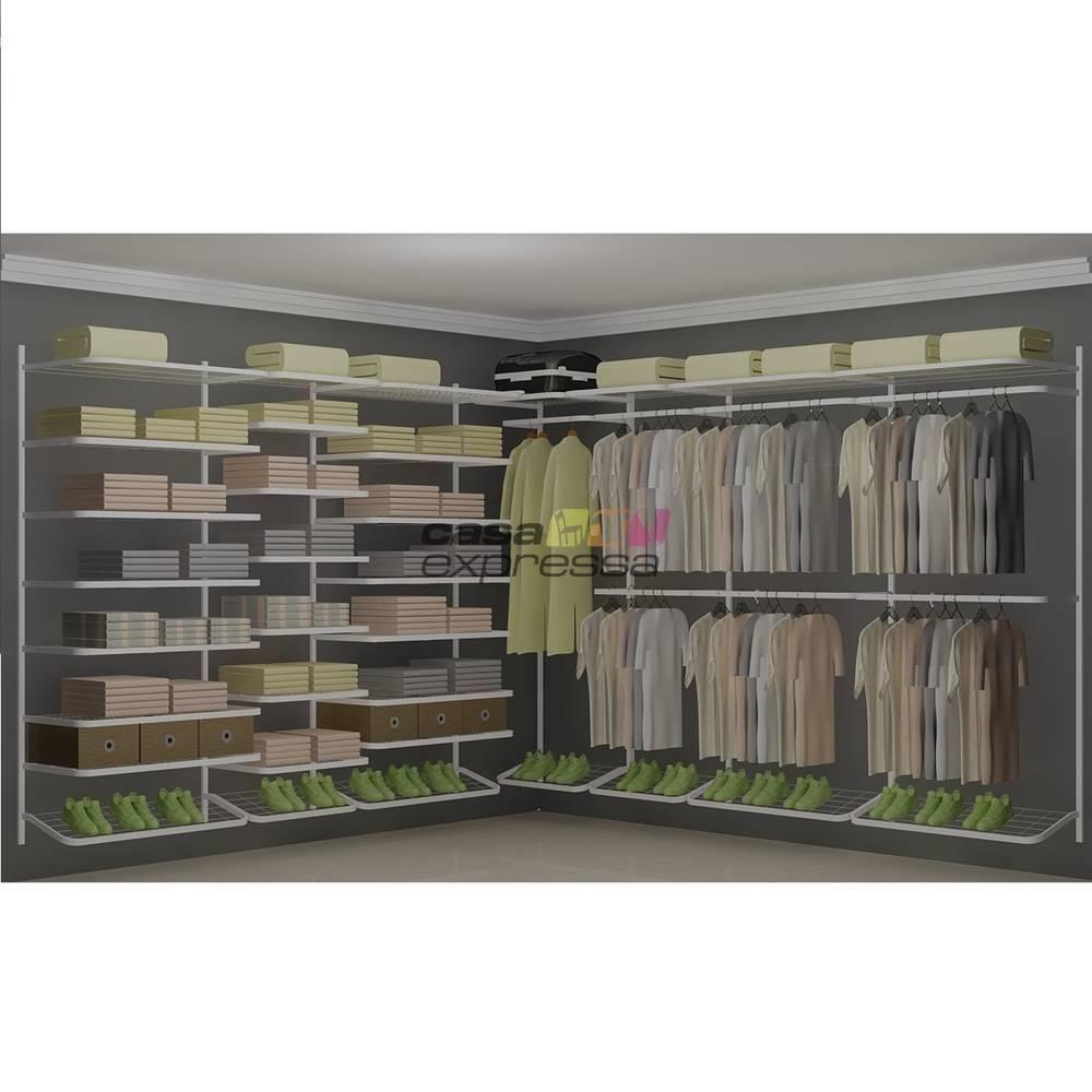 Closet Aramado em L  CLB07 - 3,10 x 3,10m - CASA EXPRESSA