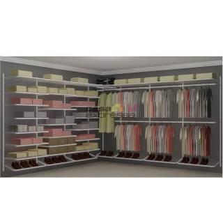 Closet Aramado em L  CLB08 - 3,40 x 3,40m