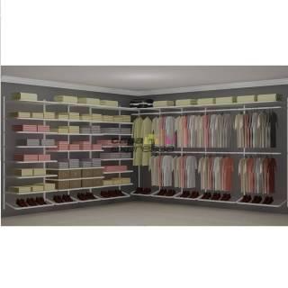 Closet Aramado em L  CLB09 - 3,70 x 3,70m