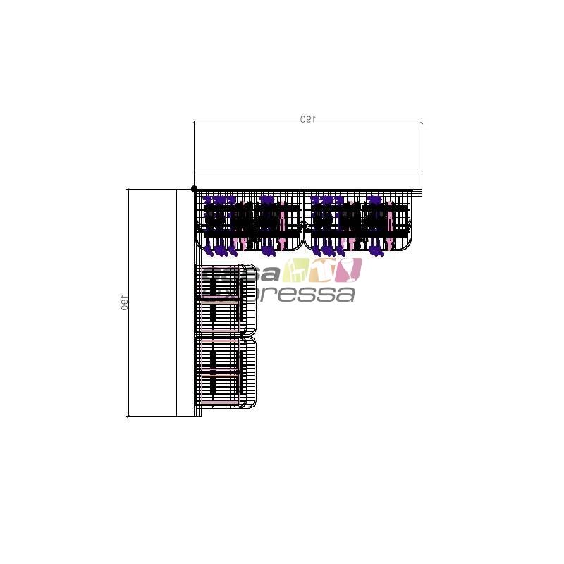 Closet Aramado em L  CLN03 - 1,90 x 1,90m - CASA EXPRESSA