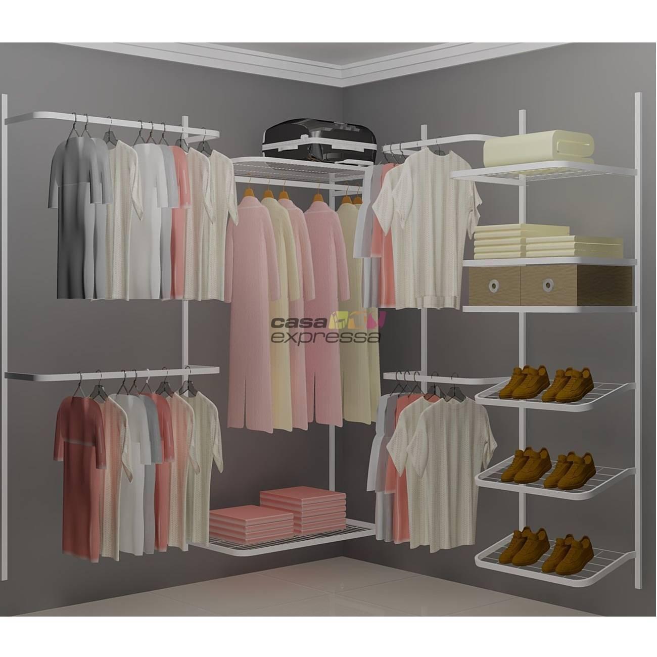 Closet Aramado em L  CLN03 - 1,90 x 1,90m