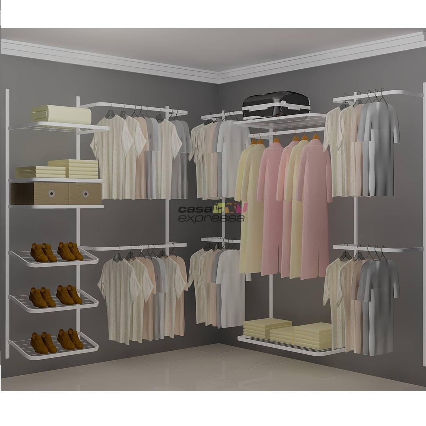 Closet Aramado em L  CLN04 - 2,20 x 2,20m - CASA EXPRESSA