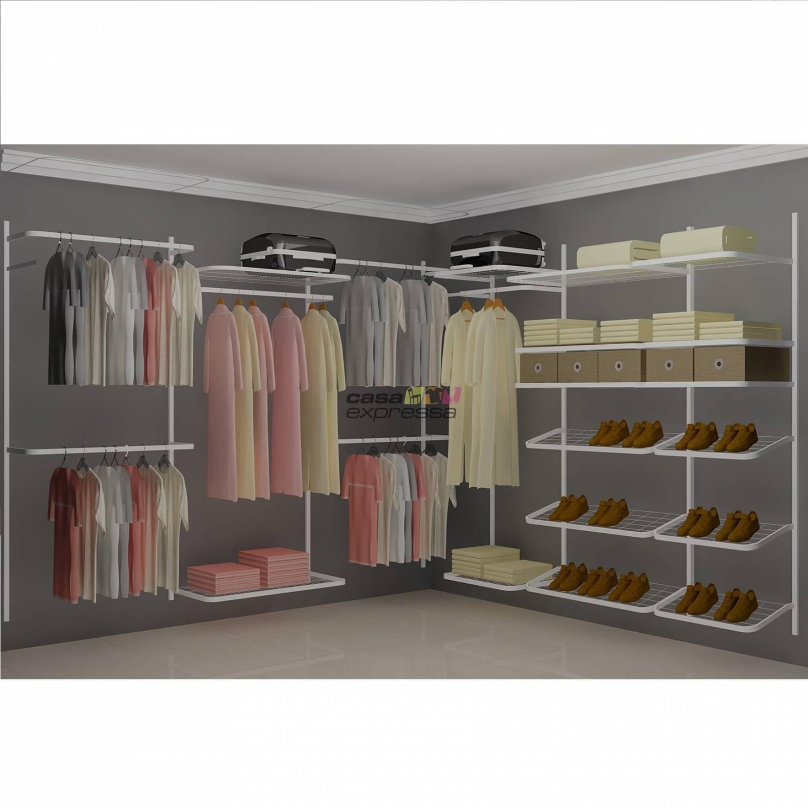 Closet Aramado em L  CLN06 - 2,80 x 2,80m