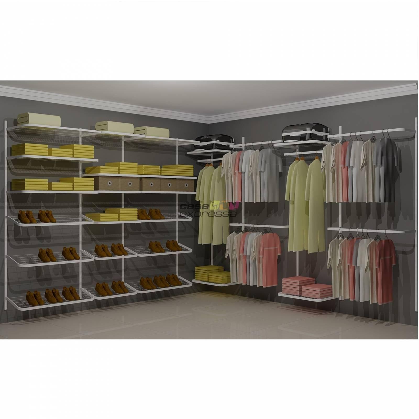 Closet Aramado em L  CLN07 - 3,10 x 3,10m - CASA EXPRESSA